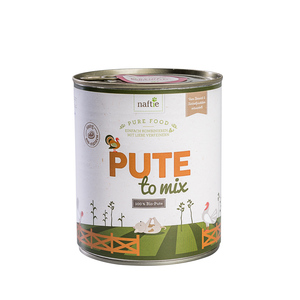 Bio-Pute PUTE TO MIX 800g Hunde-Nassfutter aus 100% Fleisch - naftie