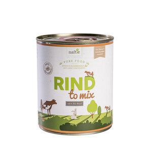Bio-Rind RIND TO MIX 800g Hunde-Nassfutter aus 100% Fleisch - naftie