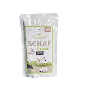SCHAF TO MIX 150g Hunde-Nassfutter aus 100% natürlichem Fleisch - naftie
