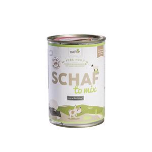 SCHAF TO MIX 400g Hunde-Nassfutter aus 100% natürlichem Fleisch - naftie
