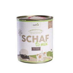 SCHAF TO MIX 800g Hunde-Nassfutter aus 100% natürlichem Fleisch - naftie
