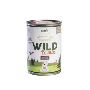 WILD TO MIX 400g Hunde-Nassfutter aus 100% natürlichem Reh-Fleisch - naftie