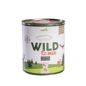 WILD TO MIX 800g Hunde-Nassfutter aus 100% natürlichem Reh-Fleisch - naftie