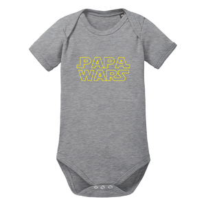 Papa Wars Baby-Body Bio-Baumwolle kurzarm - little BIG Family