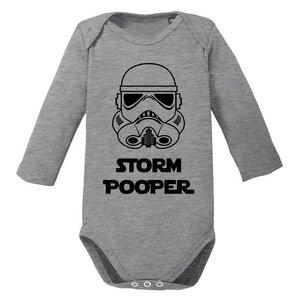 Storm Pooper - The Dark Side - langarm Baby Body Strampler - little BIG Family