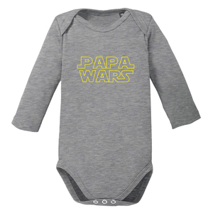 Papa Wars langarm Baby-Body Bio-Baumwolle  - little BIG Family