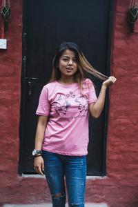 HH Love-Unicorn Einhorn T-Shirt Damen - Himal Hemp