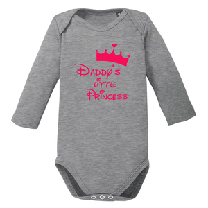 Daddys little Princess langarm Baby-Body Bio-Baumwolle  - little BIG Family