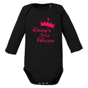 Daddys little Princess langarm Baby-Body Bio-Baumwolle  - little BIG Family