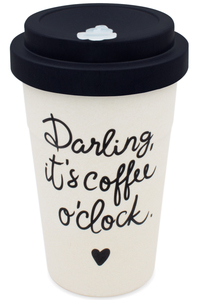Coffee-to-go Bambus-Becher, Mehrweg Kaffeebecher (Darling new black) - heyholi