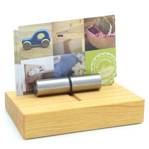 Edler Visitenkartenhalter aus Holz - echte Handarbeit aus Deutschland - 4betterdays