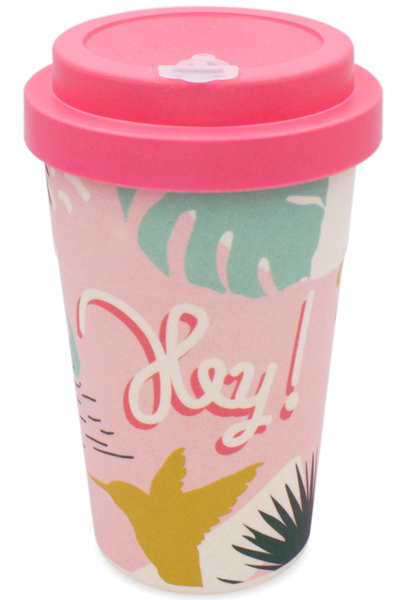 Heyholi Coffee To Go Bambus Becher Mehrweg Kaffeebecher Tropical