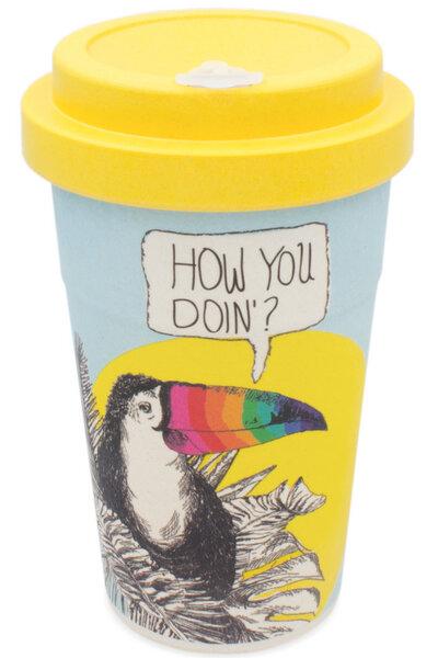 Heyholi Coffee To Go Bambus Becher Mehrweg Kaffeebecher Flirty