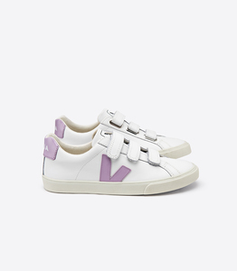 SNEAKER  -  3-LOCK LEATHER - EXTRA WHITE LILAS - Veja