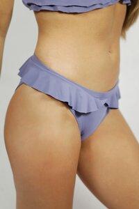 Recycling Bikinihose 'Volanti' grau - Frija Omina