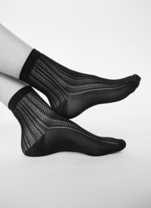 Socken - Klara Knit Socks - Schwarz - Swedish Stockings