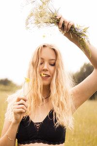Bio Bralette lace `Pure Blossom`schwarz - Maathai Organic