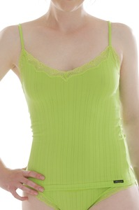 Fairtrade Unterhemd Spaghettiträger pink und lime green - comazo|earth