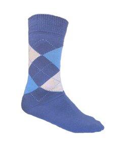 2er Pack Herren Socken blau kariert GOTS - 108 Degrees