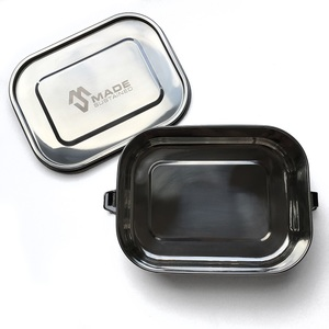 Auslaufsichere Edelstahl-Lunchbox 20cm x 16cm x 6 cm - Made Sustained