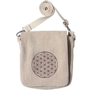 """Handtasche JUTE Lotus Design, mit Stickerei """"Blume des Lebens"""" - Lotus Design"""