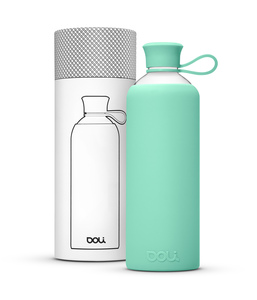 Doli Trinkflasche Glas 550ml, umweltbewusst BPA-frei ohne Schadstoffe - Doli