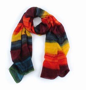 Schal - 100% Seide, Batik, multicolor, 50x 180cm - El Puente