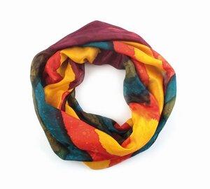 Loop-Schal - 100% Seide, multicolor, 50x 160cm - El Puente