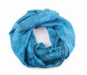 Loop-Schal 'Luna' - 100% Seide, blau/schwarz, 45 x 160cm - El Puente