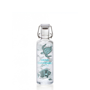 0,6L Soulbottle Glasflasche - Drink Responsibly - soulbottles
