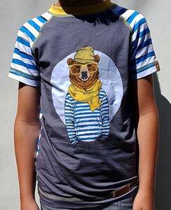 T-Shirt Hipster-Bär - Omilich
