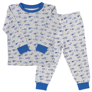 Pyjama Set - blau bedruckt - People Wear Organic