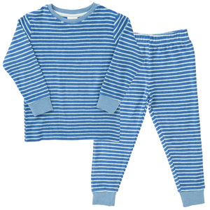 Pyjama Set - blau geringelt - People Wear Organic