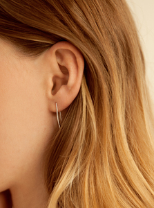 Curved Bar Earrings  - Wild Fawn Jewellery