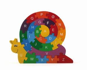 """Puzzle """"Schnecke"""" mit Alphabet und Zahlen - El Puente"""