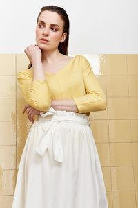 Shirt Henrike - gelb - Lana
