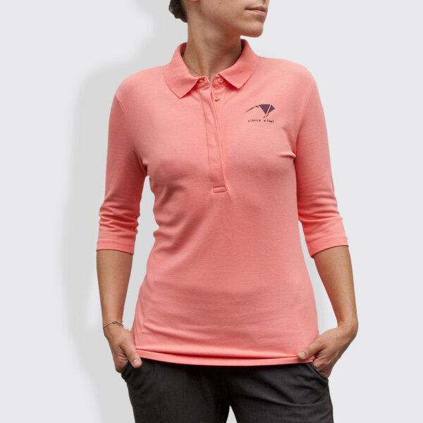 Little Kiwi Damen Polo Shirt Origami Flamingo Pink Avocadostore