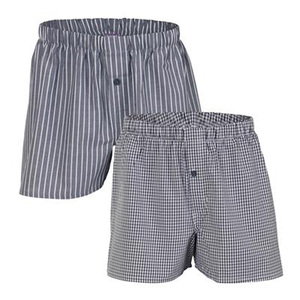 Herren Web Boxer Shorts Doppelpack - Living Crafts