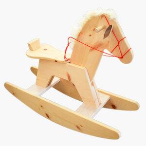 Designer Schaukelpferdchen aus Zirbe - 'Sorel' - 4betterdays