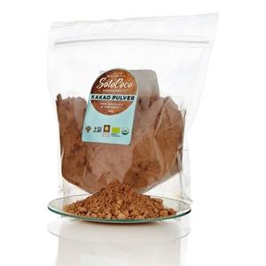 Bio Kakao-Pulver 250g Beutel (Backkakao - Fair Trade, roh & vegan) - SoloCoco