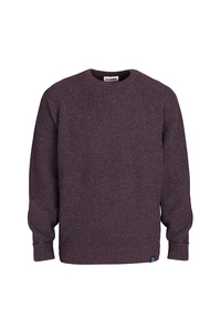 Men's Essential Everyday Sweater - Bordeaux/Blue - Blue LOOP Originals