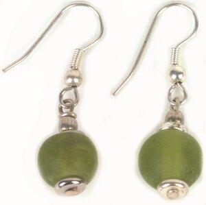Ohrringe mit grünen Glasperlen von El Puente - El Puente