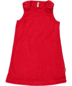Velour Kleid rot button dress - maxomorra