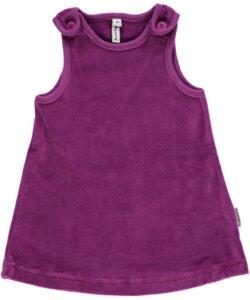 Velour Kleid lila button dress  - maxomorra