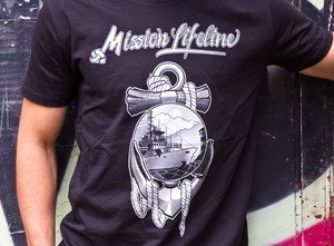 Anker&Sonne Herren Recycled Organic T-Shirt schwarz - MISSION LIFELINE