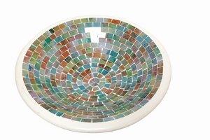 Tonschale mit Glas-Mosaik 'Tutti Frutti' - El Puente