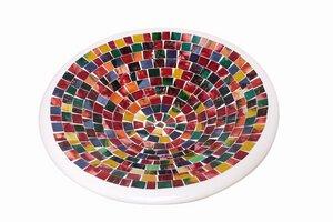 Tonschale mit Glas-Mosaik 'Colori' - El Puente