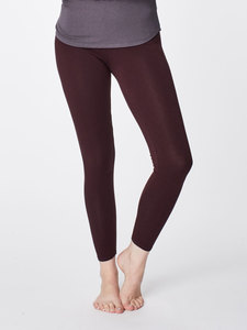 BAMBOO BASE LAYER LEGGINGS - Aubergine - Thought | Braintree