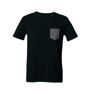 "Pocket – Shirt  'black/heather grey"" - DENK.MAL Clothing"