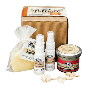 Geschenkset mit Wellnessprodukten aus den Alpen - echte Handarbeit - 4betterdays